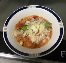 超簡単 ご飯の残りで作るトマトリゾット