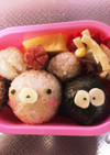 幼稚園のお弁当②まっくろくろすけ&くま