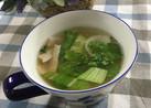 新玉ねぎとレタスとベーコンのスープ♡