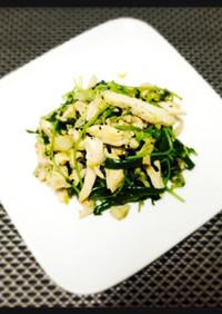チキンサラダと緑野菜のソテー