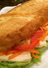 サラチキ(^_^)サンドイッチ