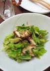 キャベツと椎茸のコンビーフ炒め