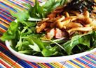 ごま油香る*水菜としめじの簡単和風サラダ
