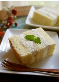 レモンケーキ…レモンカードを挟んで