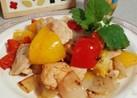 塩レモンで鶏胸肉の野菜炒め