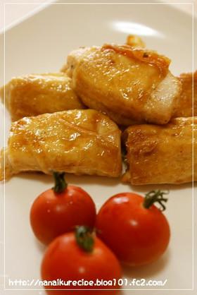 鶏肉の湯葉巻き♡甘辛風味