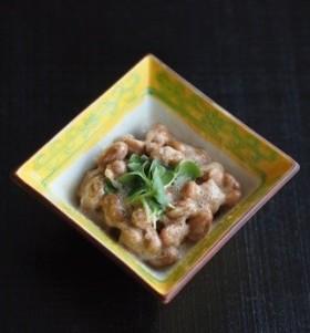 簡単♪酢玉ねぎ入り納豆
