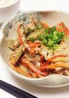 簡単☆豚肉とごぼうの味噌マヨ炒め