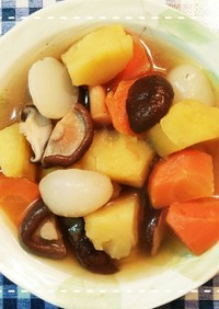 レンジ時短で簡単!根菜とこんにゃくの煮物