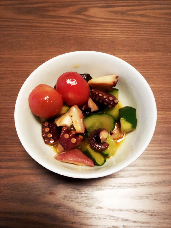 タコの柚子こしょうマリネ