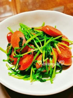副菜に♡簡単!豆苗とウィンナーの炒め物♡