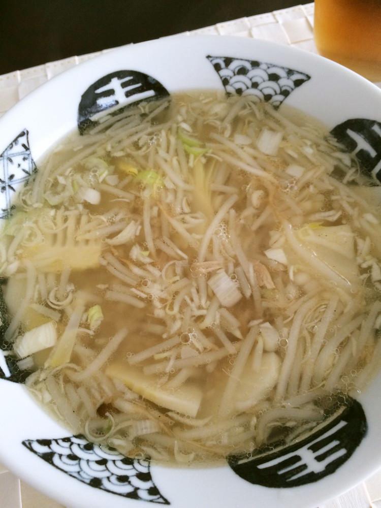 【低糖質な食事】たけのこともやしのスープ