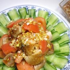 オサエちゃんで作るパリパリチキンサラダ
