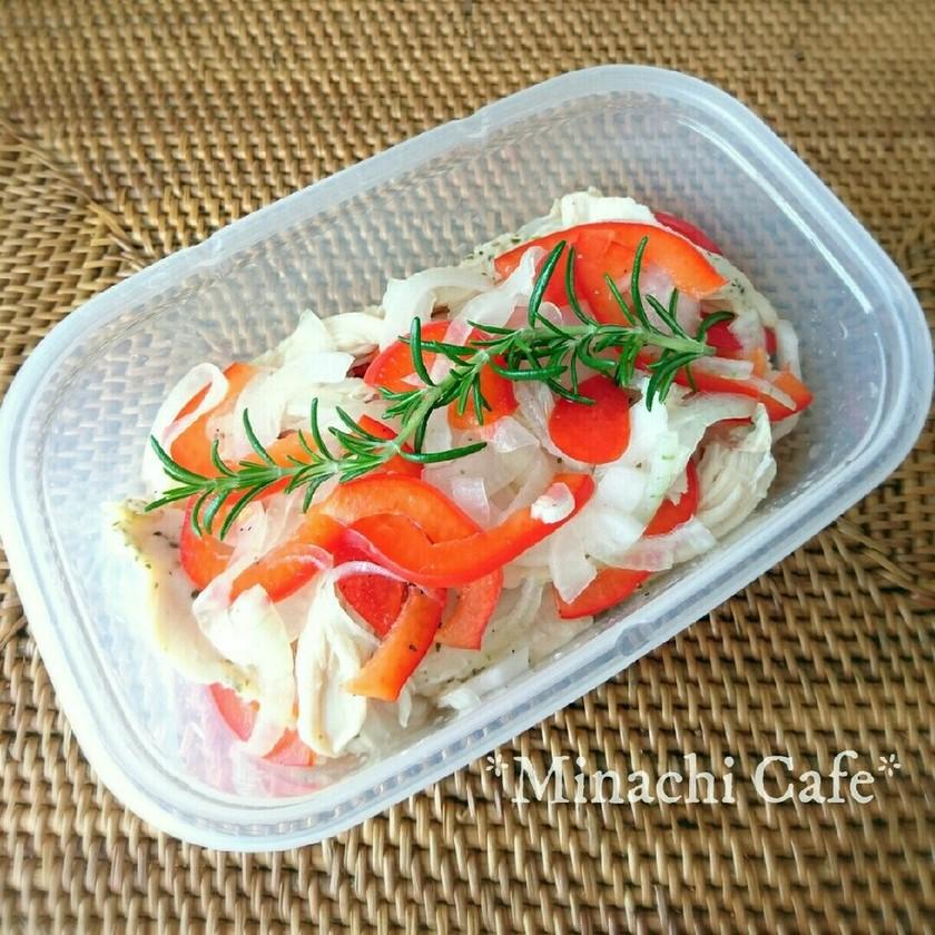 サラダチキンで簡単作り置きマリネ