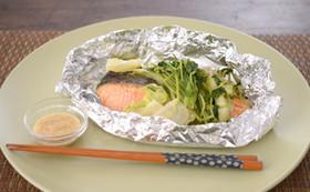 妊娠、授乳に!鮭と豆苗の包み焼き