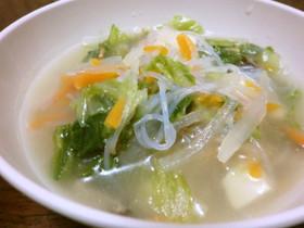 中華春雨スープ 息子のダイエット食