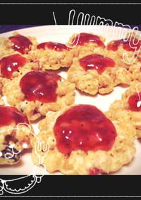 レンジで簡単オートミールのクッキー