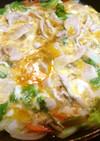 豚肉と山東菜の塩麹卵とじ