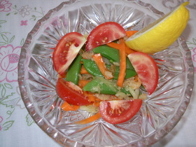 白瓜とスナップエンドウのソムタム