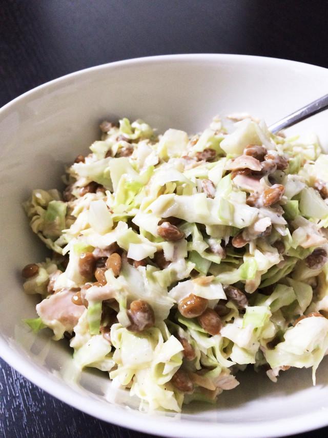 キャベツと納豆のシンプルダイエットサラダ