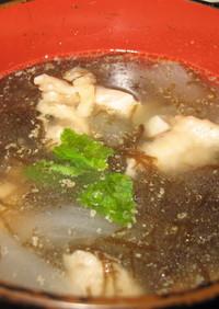 簡単!給食ででるもずくスープ(中華風)