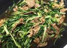 牛肉と水菜のはりはり