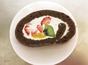 低糖質のココアロールケーキの写真