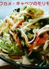 蒸し鶏とワカメ・キャベツのモリモリサラダ