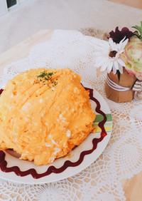 簡単!ふわとろ卵のオムライス〜卵の作り方