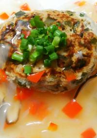 簡単♪ニラ入り豆腐ハンバーグ!塩餡掛けで
