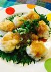 若鶏モモ肉の梅果肉タレ