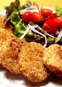 豆乳ヨーグルト鶏胸ハムのアーモンドカツ