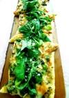 旬野菜とバジリコソースでグリーンピッツァ
