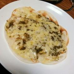 フライパンで餃子の皮ピザ