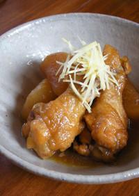 フライパンで作る鶏手羽元と大根の甘辛炊き