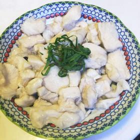 ツルッツル♪鶏胸肉の水晶鶏
