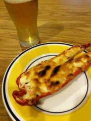 NZ産ロングスイートペッパーのチーズ焼きの写真