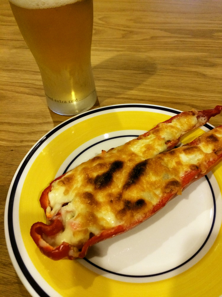 NZ産ロングスイートペッパーのチーズ焼き