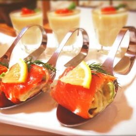 おもてなしに♪サーモン&アボカドの前菜