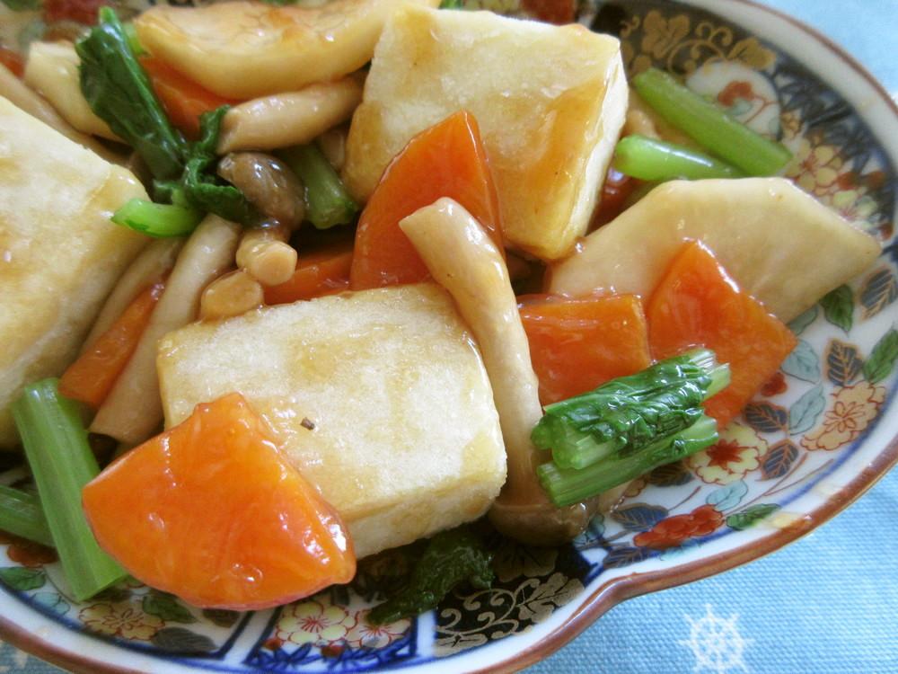 3 高野豆腐の甘酢炒め