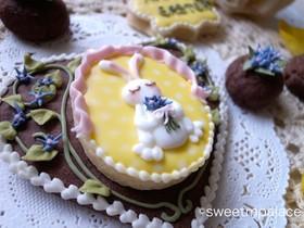 ヴァローナ社のココアでアイシングクッキー