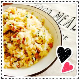 納豆炒飯♡にんにくバター醤油味
