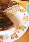 バレンタインに甘さ控えめティラミスケーキ