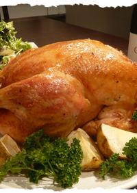 鶏の丸焼き~!**ローストチキン**