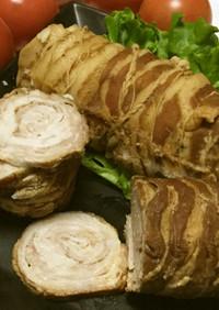 豚薄切り肉チャーシュー風☆固まり煮豚棒