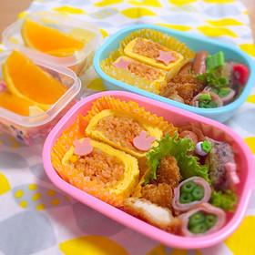 幼稚園 お弁当 *ロールオムライス*