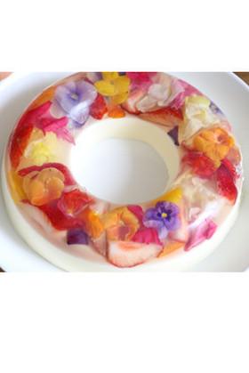 再現レシピ 花のババロアケーキ