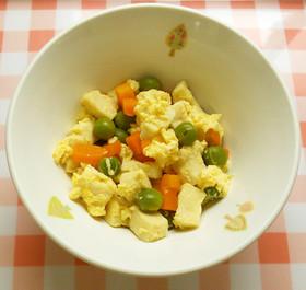 高野豆腐の卵とじ 給食