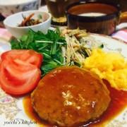 大豆&麩♡簡単ヘルシー煮込みハンバーグの写真