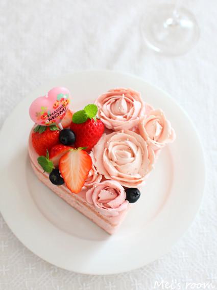 父の日にも☆ハートのデコレーションケーキ
